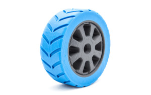Two coloured tyre