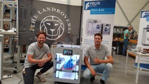 The Land Rovers happy with their new FELIX Pro L 3D printer